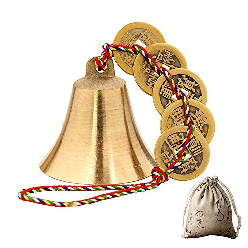 - Chinese Feng Shui Bell for Wealth and Safe, Peace and Success,Feng Shui Element, Door Chime or Decor