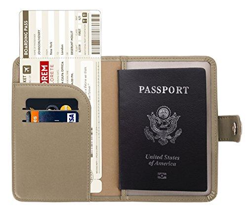 Zoppen Rfid Blocking Travel Passport Holder Cover Slim Id Card Case (#11 Hazy Taupe)