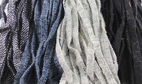 - 100% Wool Assorted Up-Cycle and New - #8 - Qty 100 - Blacks and Grays