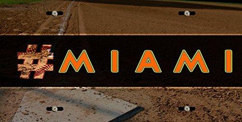 (BleuReign(TM) Hashtag Miami #Miami Baseball Team Car Vehicle License Plate Auto Tag )