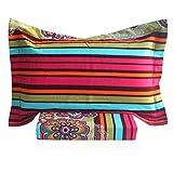 FADFAY Colorful Striped Bed Sheet Set Boho Style Sheets 4Pcs-Twin