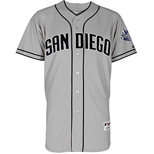 San Diego Padres Majestic Road Grey Authentic Jersey