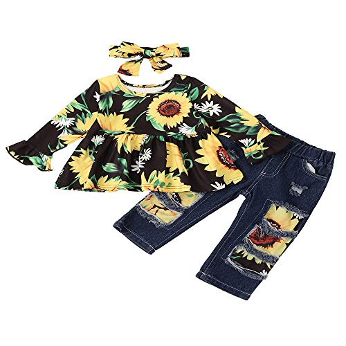 Toddler Baby Girls Clothes Cami Flowers Tank Tops Blouse Solid Shorts Summer Outfit Set