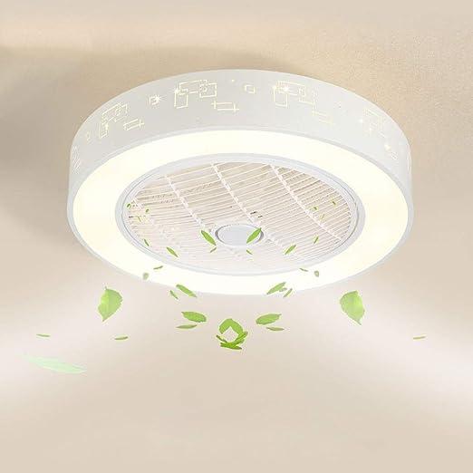 Ventilador Luz de techo redonda moderna LED Ventilador de techo ...