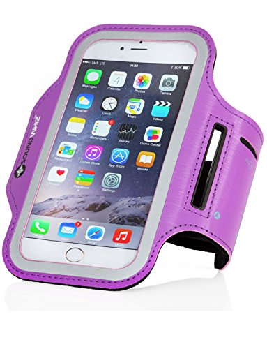 SoundWhiz iPhone 7, 6/6s Armband Sweatproof. Sports & Running Armband For iPhone 6|6s & Galaxy S5|S6|S6 Edge. Key Holder, Reflective Safety Strip, Bonus Extender. Not 7,6Plus or 6s+ models