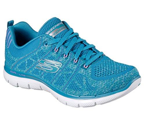 Womens Skechers Sneakers Flex Appeal 2.0 New Gem Knitted Shoes [並行輸入品]