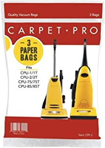 Carpet Pro Genuine Upright Bags - 6 Pack