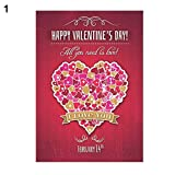 bromrefulgenc Holiday Hanging Sign,Fashion Valentine's Day Garden Flag Festival Love Heart Flower Letter Banner - 1#: more info