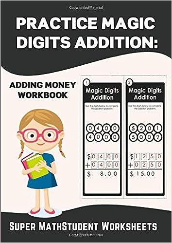 Practice Magic Digits Addition: Adding Money Workbook (Math ...