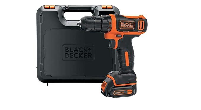 Black+Decker BDCDD12K-QW - Taladro atornillador 10.8 V, 1.5 Ah Litio con maletín