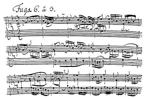 Bach Manuscript 1722 Nthe Autograph Manuscript Of The D-Minor Fugue From Johann Sebastian BachS Wohltemperirte Klavier Book I 1722 Poster Print by (18 x 24)
