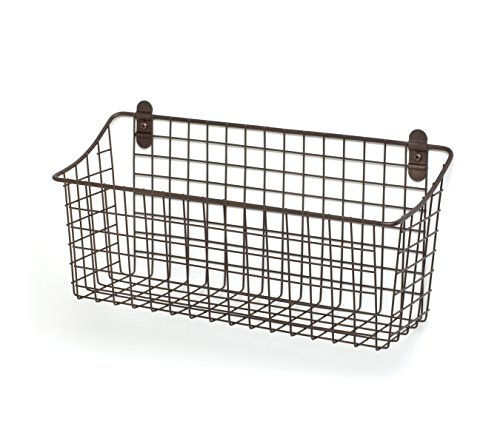 Extra Large Wall Mount (Spectrum Diversified Vintage Wall Mount Storage Basket, 15