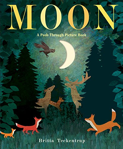 Moon: A Peek-Through Picture Book - Book About Stars