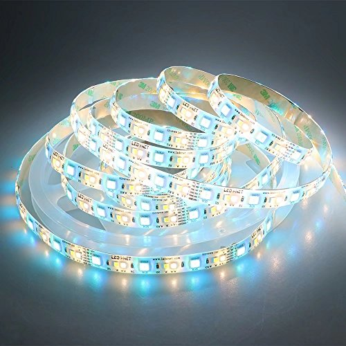 LEDENET LED Light Strip RGB+W+WW 12V 120W Full Color Cold White Warm White CCT RGB LED Tape Ribbon Lamp Silcone Coating Waterproof IP65 16.4ft(5m)