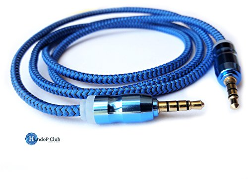 3.5mm Aux Cable Male to Male Stereo Audio Cable  1m  for Headphones iPods iPhones iPads Speaker Car Stereos Blue