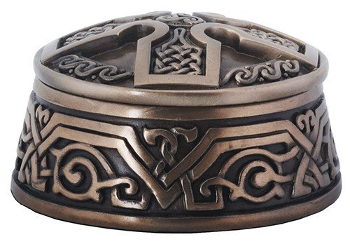 Celtic Knot Cross Jewelry Storage Box Collectible Container Figurine (Necklace Cross Dia)
