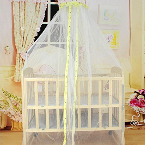 Price comparison product image Mosquito Net Bed Canopy,Chartsea Summer Baby Bed Mosquito Mesh Dome Curtain Net for Toddler Crib Cot Canopy (Yellow)