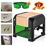 Laser Engraver,Laser Engraving Machine 3000mw Desktop DIY Logo Patterns Mini Laser Engraver Printer CE Approved 7.57.5CM by GTN Tech