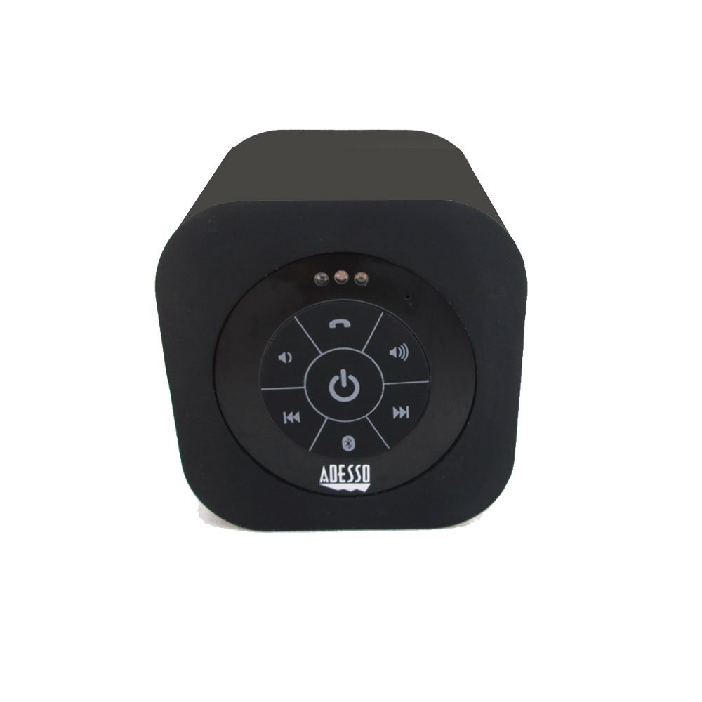 Adesso Bluetooth 3.0 Waterproof Speaker - Retail Packaging - Black