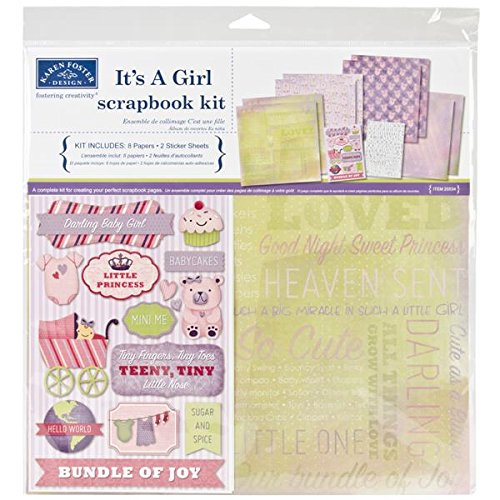 Girl Embellishments (Karen Foster Scrapbook Page Kit, 12 by 12-Inch, It's a Girl)