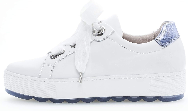 Gabor Femme Baskets Mode, Dame Chaussures de Skateboard Weiss Azur
