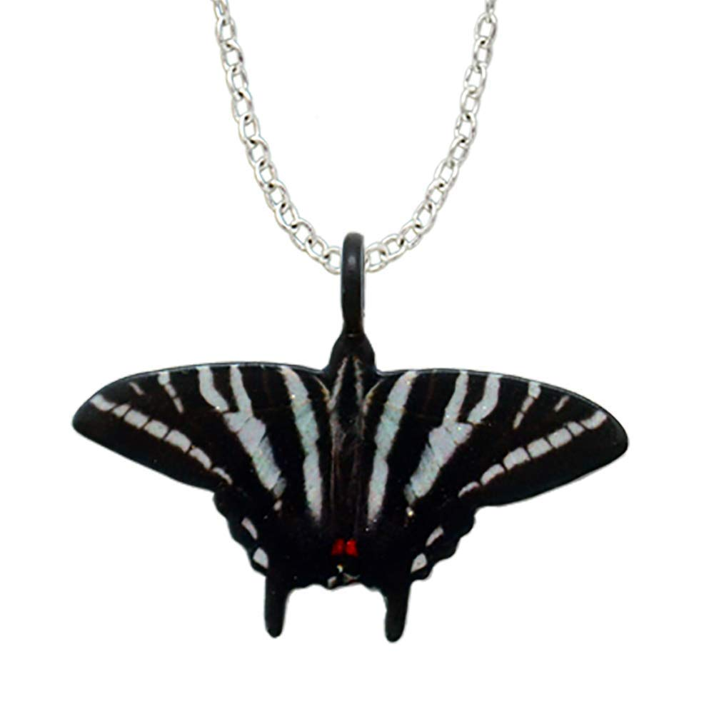 dears Zebra Swallowtail Butterfly-Shaped Necklace Stainless Steel 18 Chain