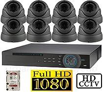 USG 1080p HD-SDI 8 Channel Kit: 1x 8 Ch DVR + 8x 2.8-12mm Dome Cameras + 1x 2TB HDD *** High Definition CCTV Video Surveillance