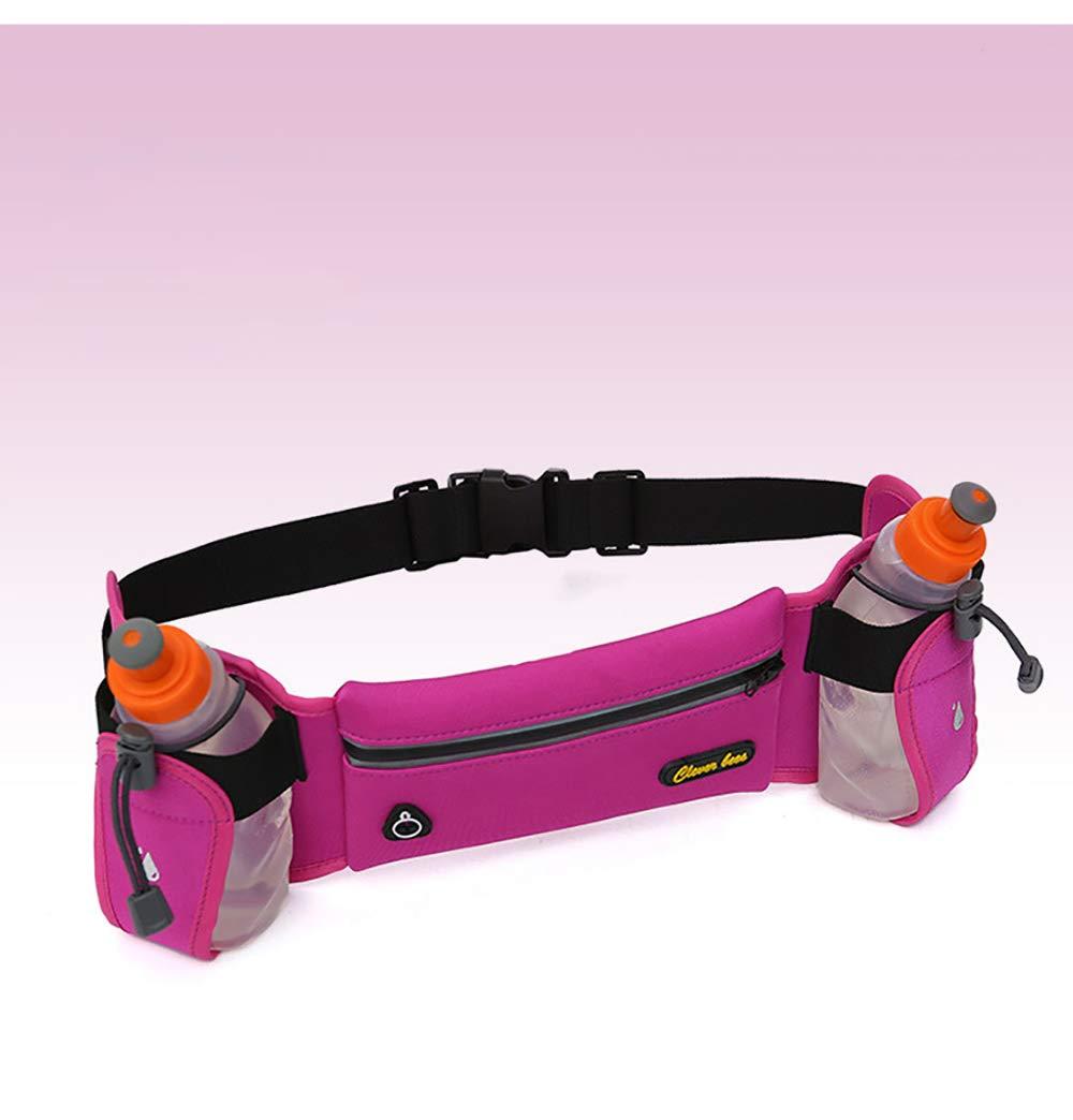 FGKING Cinturón de Cintura riñonera con Soporte de Botella de Agua Unisex de la Cintura de Senderismo Paquetes para Caminar Lumbar Pack Apto para iPhone iPod Samsung teléfonos