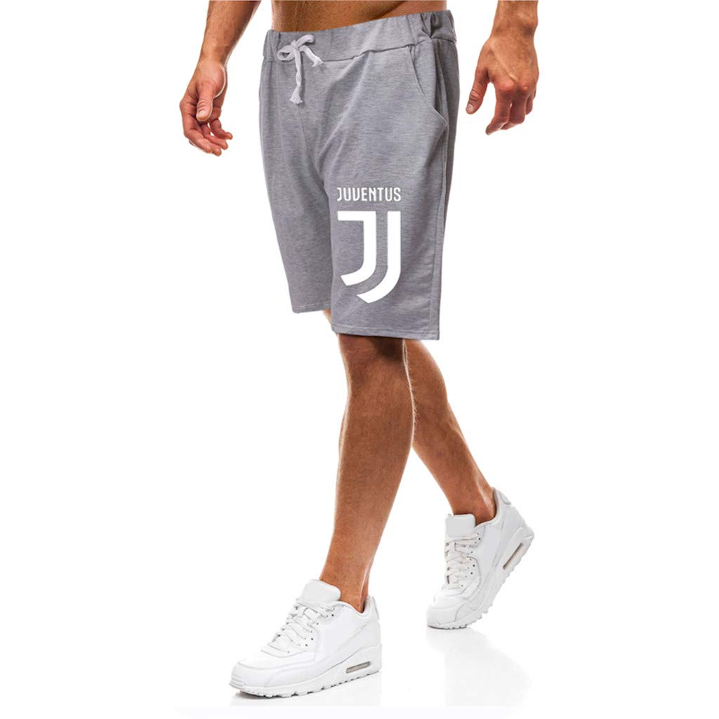 Mens Five-Point Shorts,Fashion Mens Casual Printed Pants,Summer Mens Lace-up Pocket Casual Solid Color Shorts