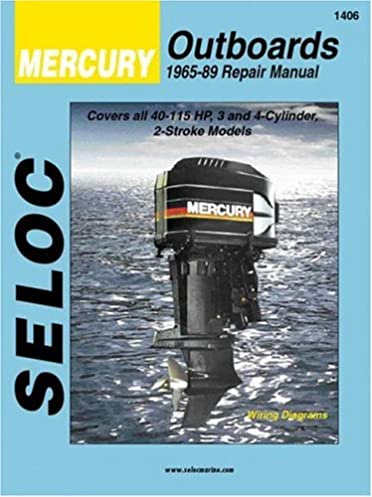 mercury outboards 3 4 cylinders 1965 1989 seloc marine tune up rh amazon com 1988 Mercury 90 HP 90 HP Mercury Jet Drive
