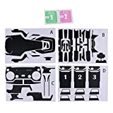 SunniMix PVC Waterproof Skin Stickers Decal Parts for DJI Mavic Air RC Drone Black