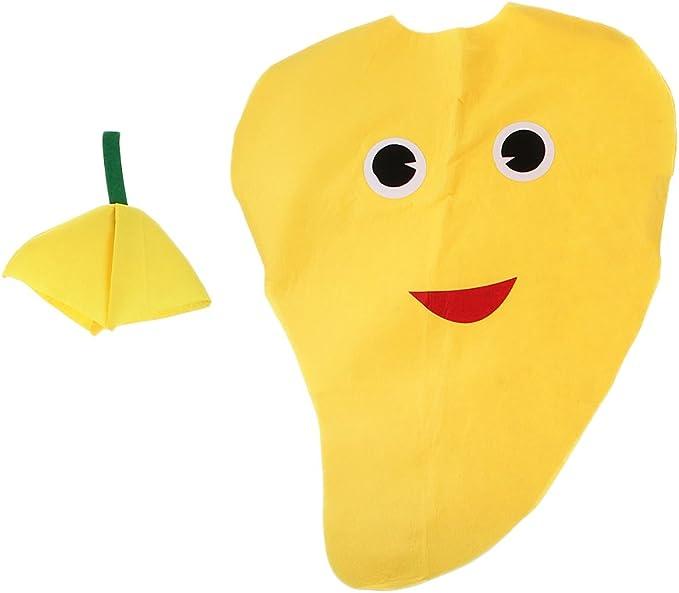 1 Set Disfraz de Mango Fruta Traje Atractivo Sin Tejida Dibujos ...