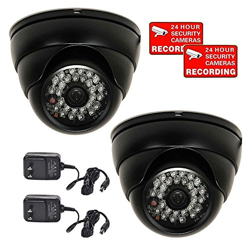 VideoSecu 2 Pack Dome 700TVL Outdoor Security Cameras 1/3