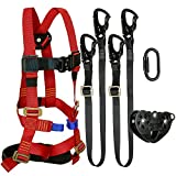 Fusion Climb Tactical Edition Kids Commercial Zip Line Kit Harness/Dual Lanyard/Carabiner/Trolley Bundle FTK-K-HLLCT-10
