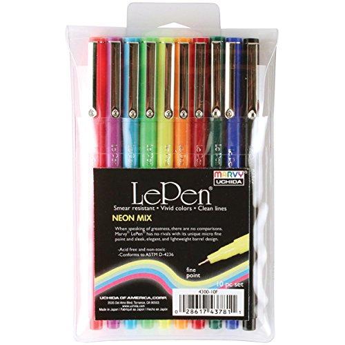 - UCHIDA 4300-10F 10 Piece Le Neon Pen Mix, Set