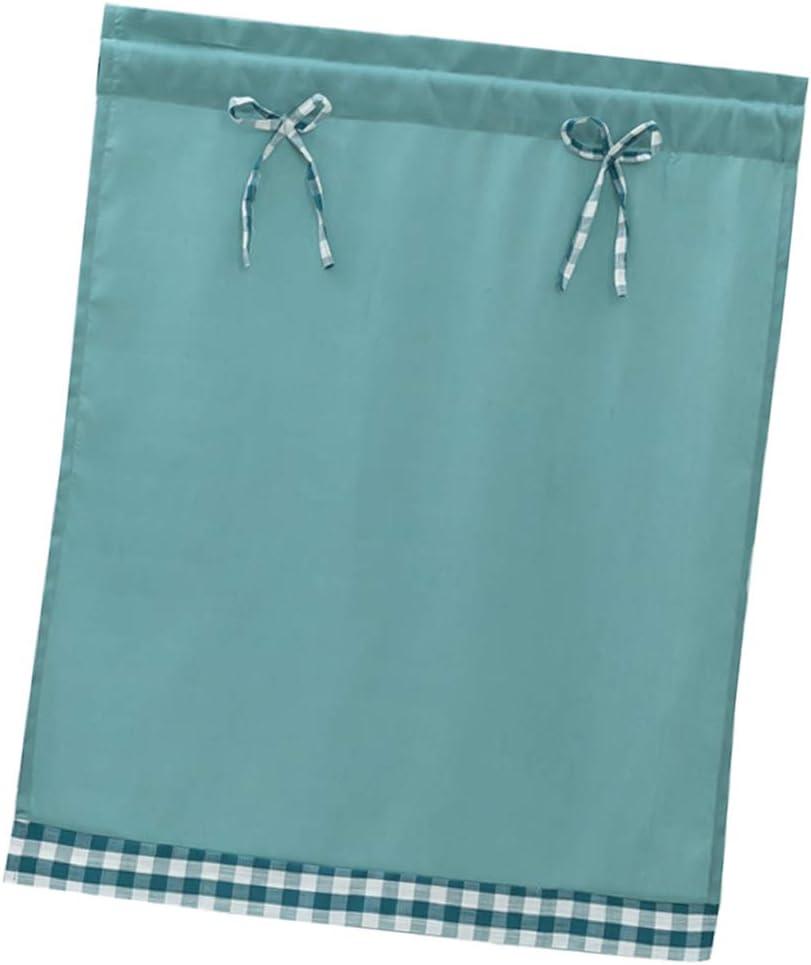 Bleu clair/_74x61cm LOVIVER Rideau de Coton Court Lavable Rideau de Porte avec N/œud Papillon pour Salon Petite /étag/ère Salle de Bain