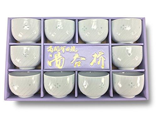 Japanese Sencha Stayle Tea Cup 10 Set, Firefly Relief, Arita Ware