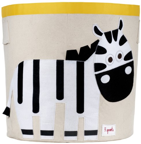 3 Sprouts Storage Bin, Zebra (3 Canvas Storage Boxes)