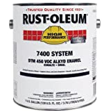 Rust-Oleum 1030402 Green Aluminum High Performance 7400 System Less than 450 VOC DTM Alkyd Enamel Paint, 1 gal Can (Pack of 2)