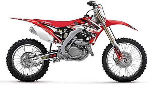 Team Racing Graphics kit Compatible with Honda 2019-2020 CRF 450RX /& 2019-2020 CRF 250RX Analog Red Complete kit