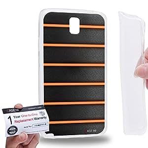 Case88 [Samsung Galaxy Note 3 Neo N750 N7505] Gel TPU Phone case & Warranty Card - Art Orange Bicycle Grip