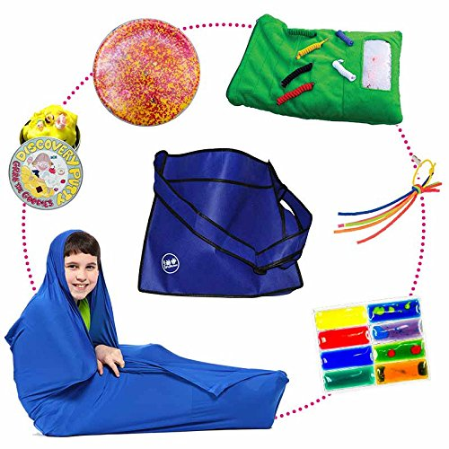 Fun and Function Break Bag – Easy-to-Carry Travel Bag Contains Multiple Sensory Items to Help Kids Ease Stress, Ages 4+ by Fun and Function
