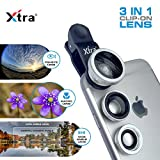 XTRA 3 in 1 Clip-On 180° Fisheye Lens + 0.67X Wide
