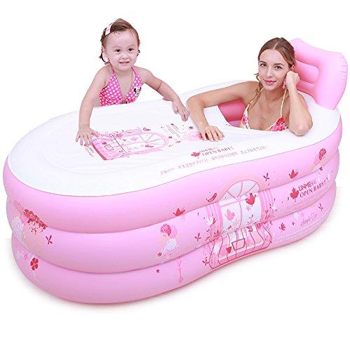 MMWYC - Bañera de baño Hinchable de Cuerpo cálido para ...