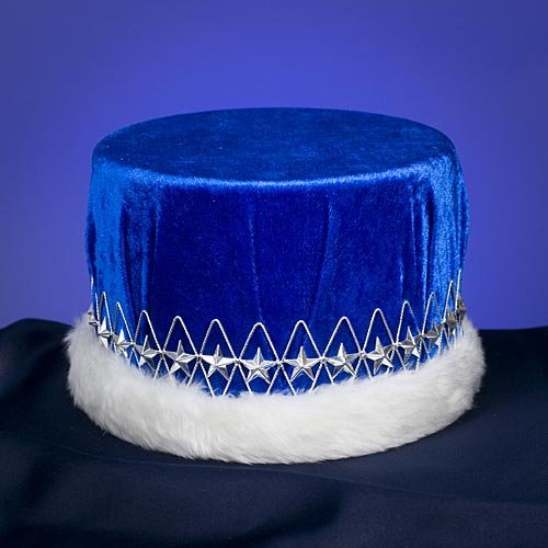 Blue and Silver Velvet Kings Crown