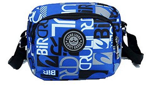 Borse Azzurro tracolla CCALBP181046 VogueZone009 Borse tracolla a Donna Style Viaggio Nylon Satchel a f8pFwqa