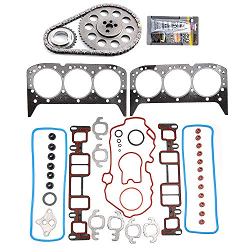 ECCPP TK7020 Timing Chain kit Head Gasket Set Fits for 1999-2005 Chevrolet Astro,1999-2005 Chevrolet Blazer,1999-2006 Chevrolet Express 1500,1999 2000 2001 GMC Jimmy ()