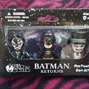 BATMAN RETURNS Mez-Itz Action Figure 3-Pack 5 cm Mezco OGGETTO RARO
