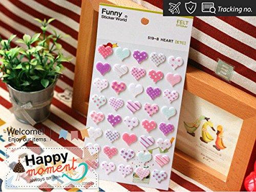 3d-felt-fuzzy-patterned-hearts-sticker-for-diary-organizer-decoration-1-sheet