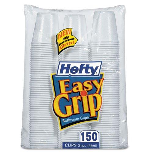 Hefty - Easy Grip Disposable Plastic Bathroom Cups, 3oz, White, 150/Pack C20315 (DMi PK